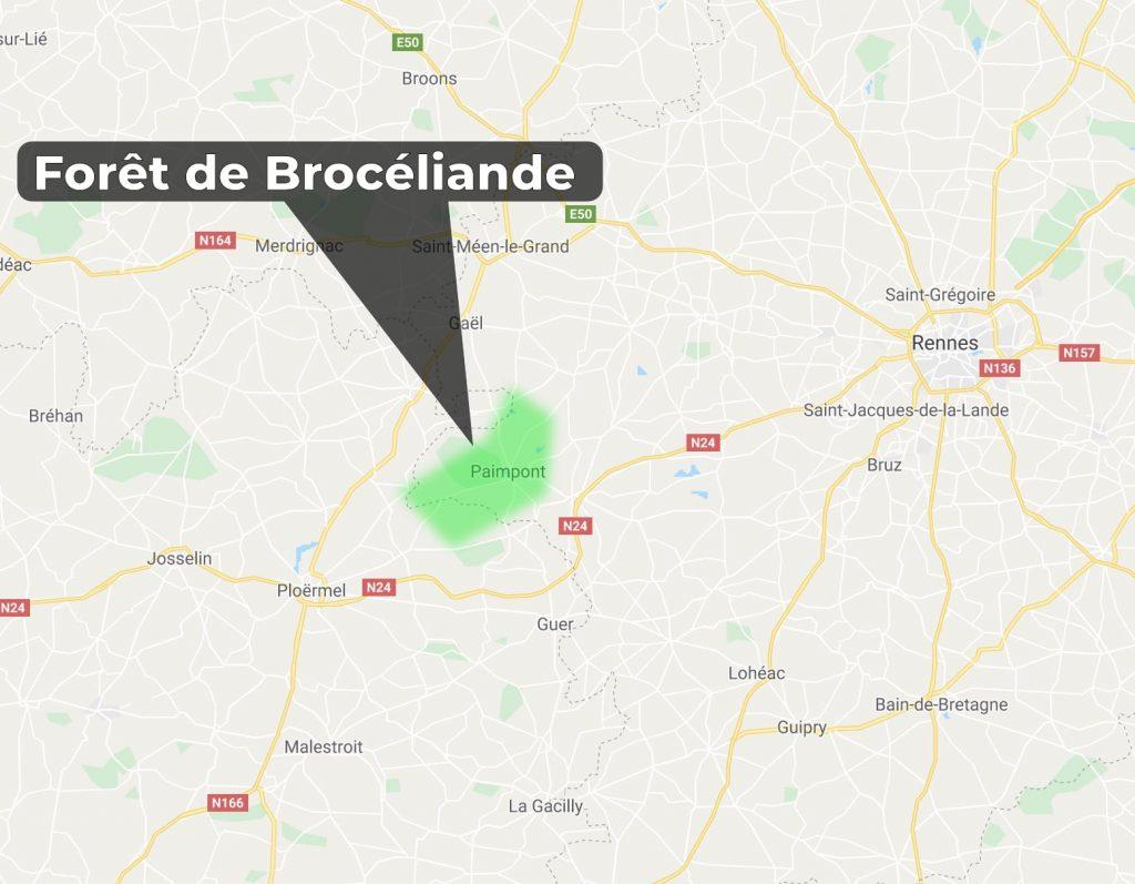 Où se trouve la forêt de Brocéliande? des druides en bretagne