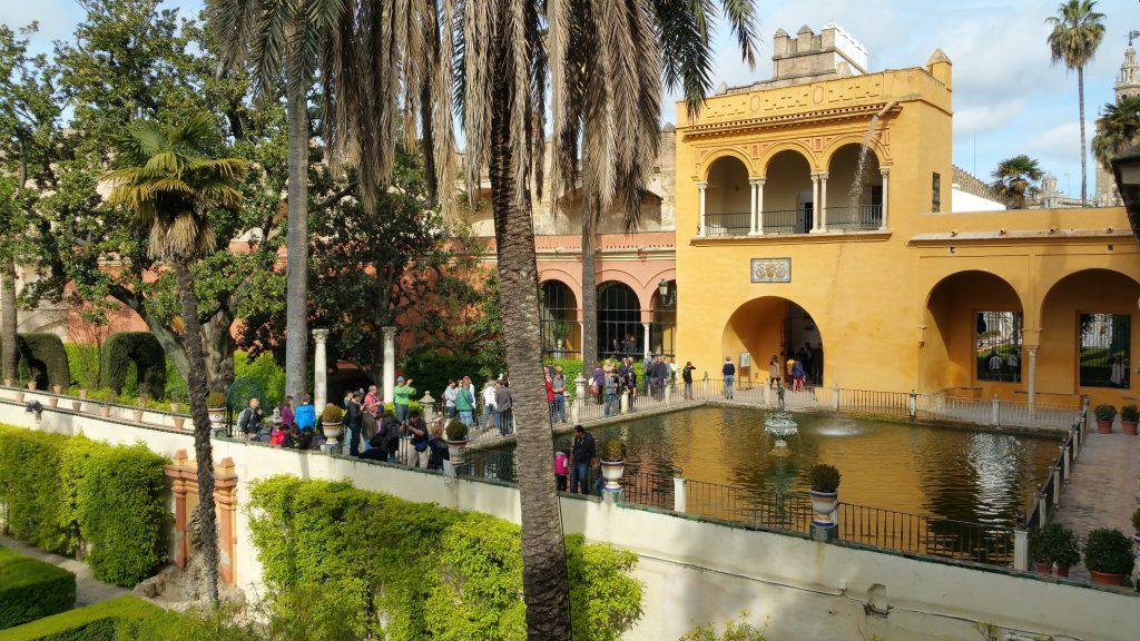 les jardins visite guidée Alcazar de Séville en français