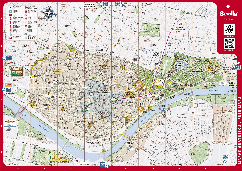 Plan de l'Office du Tourisme de Séville
