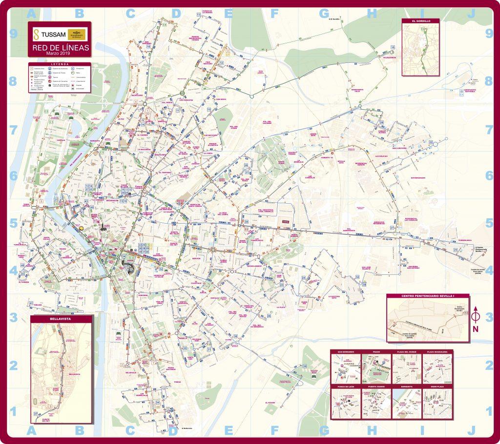 Plan de Séville Bus PDF