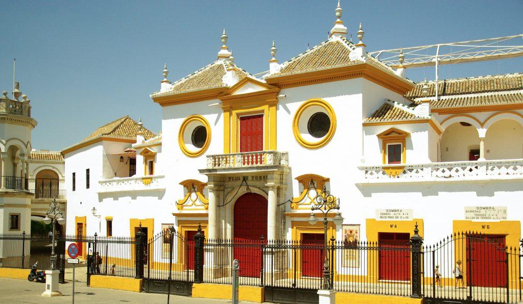 L'entrée de la Plaza de Torros de Séville