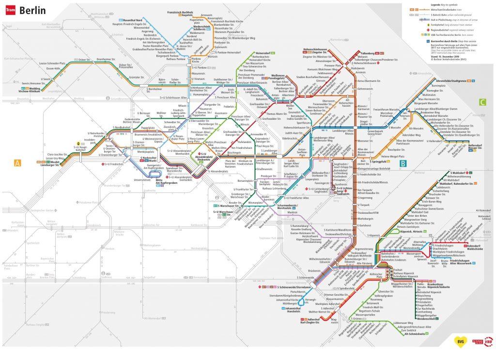 Plan Tram Berlin