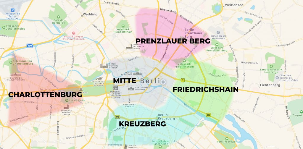 carte meilleurs quartiers de berlin