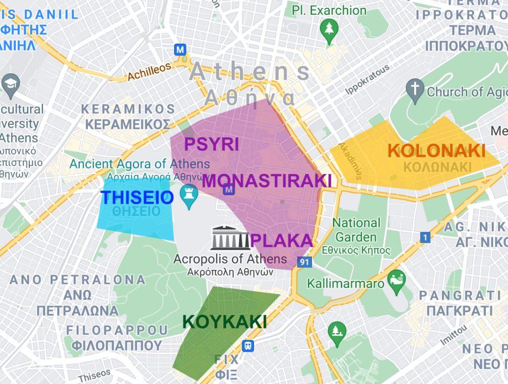 Où dormir à Athènes meilleurs quartiers pour se loger à Athènes