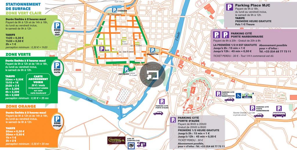 Plan Carcassonne parking tarif