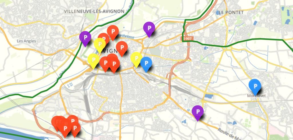 Se garer à Avignon pour week end plan