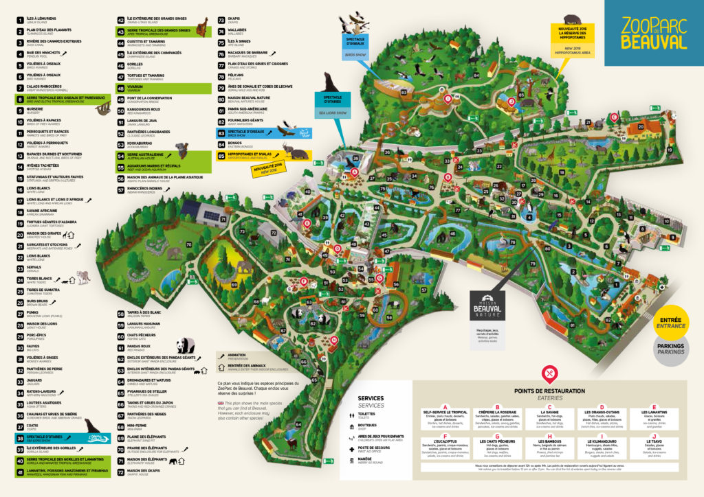 plan zoo de beauval visite